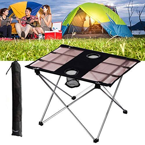 Ritapreaty Camping Tafel Ultralight Opvouwbare Draagbare Compact Roll Up Camp Tafels met Draagtas voor Picknick, BBQ, Vissen, Wandelen en ReizenMakkelijk schoon te maken