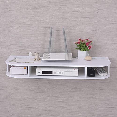 YXZN WiFi Router Set Top Box Sky Box Caja de Cable Estante de Almacenamiento Estante de Pared Gabinete de TV montado en la Pared Estante Flotante Consola de TV