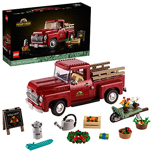 LEGO Pickup Truck 10290; Build and Display an Authentic Vintage 1950s Pickup Truck; New 2021 (1,677 Pieces)