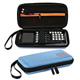 Faylapa Carrying Case Storage for Graphing Calculator Texas Instruments TI-83 Plus TI-84 Plus CE EVA Case Travel Bag Protective Pouch (Blue)