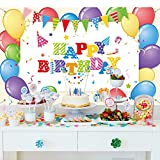 Happy Birthday Party Dekoration Bunte Luftballons Foto