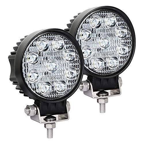 Exzeit Waterproof LED Pods, 54W 3800LMS 60° Flood Offroad Light with CREE Led Chips, Off Road Lights, Led Work Lights for Truck Trator Jeep ATV UTV Golf cart Boat, 12v/24v (3.5 inch)