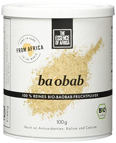 The Essence of Africa Baobab-Fruchtpulver, 1er Pack (1 x 100 g)