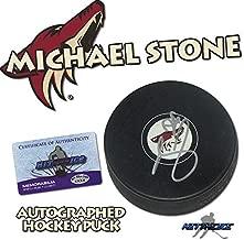 MICHAEL STONE Signed ARIZONA COYOTES Puck w/COA -