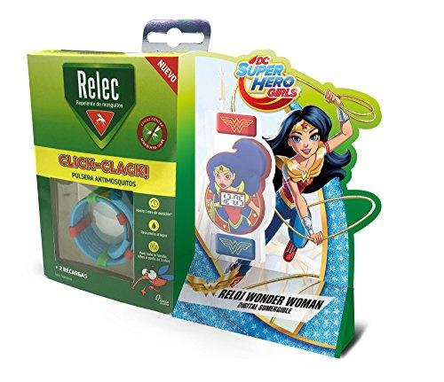 Relec Pulsera Repelente Antimosquitos Superhéroes Wonder Woman - 1 Unidad