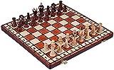 UKLLYY Juego de Juegos de Mesa de Entretenimiento Juego de Juegos de ajedrez portátil Detalle de ajedrez de Madera de Madera Plegable Juego de Tablero de ajedrez Plegable