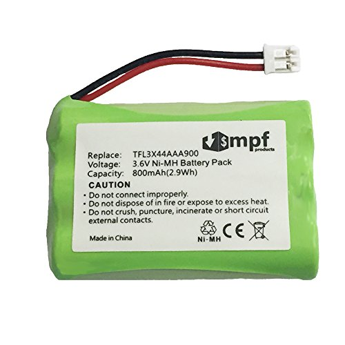 MPF Products 800mAh 29030-10 Battery Replacement Compatible with Summer Infant Wide View 29000, 29000A and Clear Sight 29030, 29040, 29260 Baby Monitors