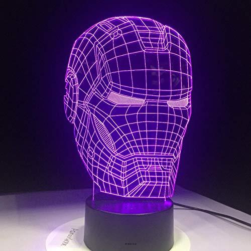 WisdomMi lámpara de noche para niños, 3D 16 colores - de reloj dorada - altavoz Bluetooth negra - Personaje De Payaso De Película - Lámpara Luz De Noche Para Niños Táctil Mesa Dormir Bebé Nocturna Reg