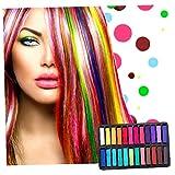 Conjunto De 24 tiza del pelo temporal tintes capilares no tóxico Color de cabello de color del...