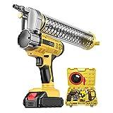 YGU Pistola engrasadora eléctrica inalámbrica de 21 V, Pistola engrasadora de Alta presión de 8000 PSI, Kit de Herramientas eléctricas con Capacidad de 600 CC (con Dos baterías de Litio de 2,0 Ah)
