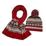 Fovor 2020 Decoración de Navidad Regalo de Navidad Sombrero y Bufanda de Punto Vacaciones Navidad Navidad Beanie Cap Ocasiones especiales Eventos Festivos Bufandas