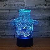 Lámpara con Forma de fútbol con Sombrero, atmósfera Visual, luz Nocturna Decorativa, Interruptor táctil, Cambio de Color