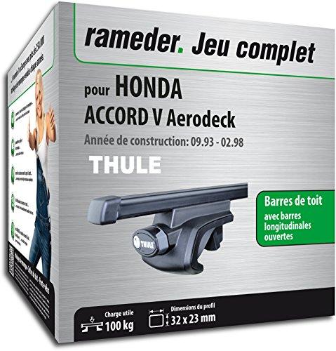 Rameder Pack, Barres de Toit SquareBar Compatible avec Honda Accord V Aerodeck (115966-01272-65-FR)