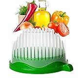 Faneli VOARGE Salat Cutter Schüssel, Cutter Schüssel Gemüseschneider Schüssel, Küche 3 in 1...