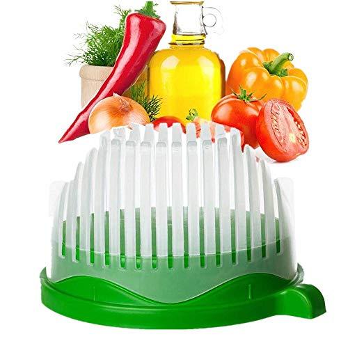 Faneli VOARGE Salat Cutter Schüssel, Cutter Schüssel Gemüseschneider Schüssel, Küche 3 in 1 Salatschüssel, Gemüseschneider mit Schäler inklusive