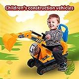 Zeyujie Es un buen regalo para niños, juguetes para excavadoras infantiles, un nuevo dragador de arena para niños, juego para niños, juguete de vehículos de construcción de excavadora, con respaldo de