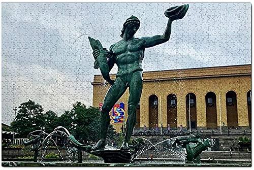 stycken träpussel pusselleksaker Poseidon Göteborg, Sverigepussel för vuxna och för barn från 10 år och uppåtBarn Födelsedagspresent -52 * 38cm