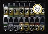 Vallejo 071191 - Farbset, Eisenbahn-Farben, 16 x 17 ml
