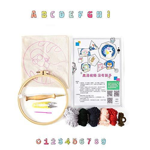 ACHICOO DIY Stickmaterial Kit Stress Reliever Spielzeug Geschenk Maual Craft wie Gezeigt Poke-Stickmaterial-Paket (einschließlich Poke-Nadel)