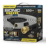 Bionic Steel PRO Garden Hose - 304 Stainless Steel Metal 50 Foot Garden Hose –...