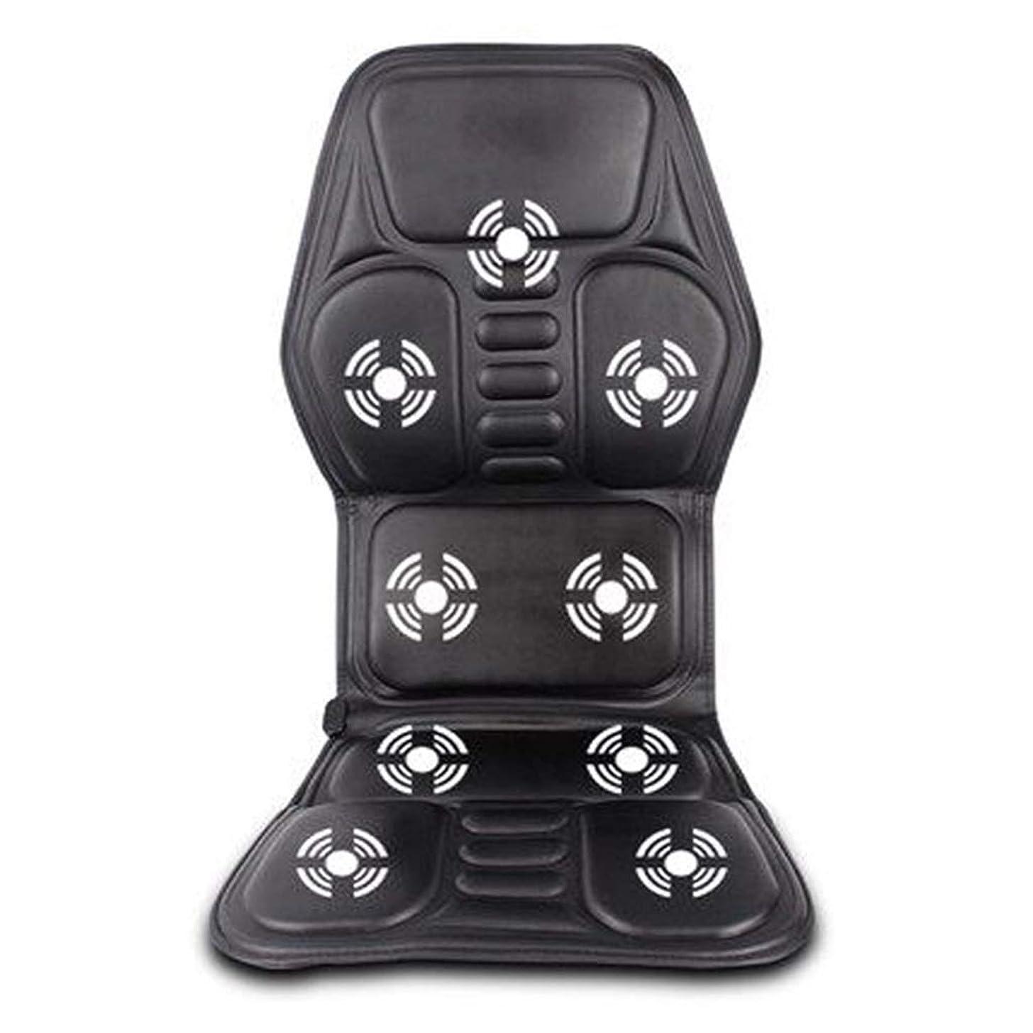 耐えられる最初はセッションマッサージャー マッサージホームカー戻るマッサージチェアクッション子宮頸ネックウエスト戻る腰椎電気暖房ウォームホットマッサージクッション (Color : Black, Size : 118*52cm)