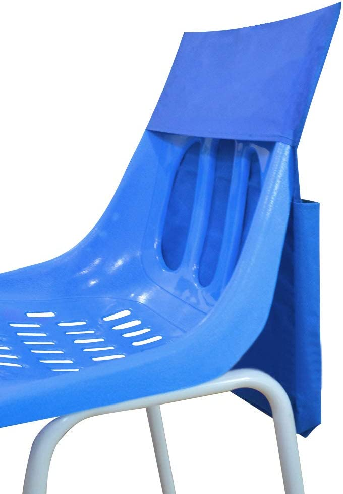 Scuola aula sedia portaoggetti tasca organizzatore sedile compagno con targhetta per il nome per bambini Must-Have fornitura scuola sedia appeso borsa portaoggetti per aula Daycare casa