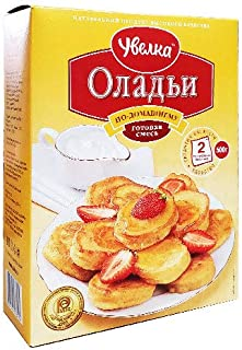 Uvelka Pancakes (Russian Oladushki), 100% Natural, Ready mix for baking, 17.6 Ounce / 500 Gr.