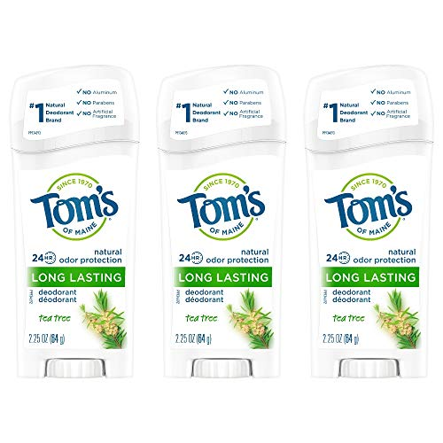 Tom's of Maine Long-Lasting Aluminum-Free Natural Deodorant for Women, Tea Tree, 2.25 oz. 3-Pack