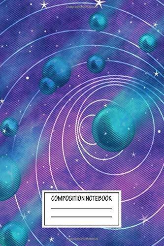 Composition Notebook: Abstract Falling Stars Magic Wide Ruled Note Book, Diary, Planner, Journal for Writing