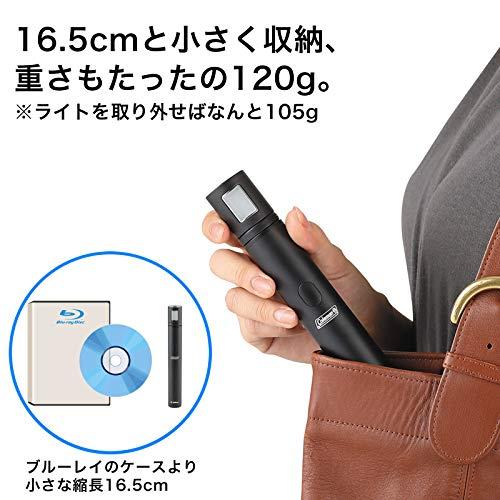 Coleman 自撮り棒 セルフィースティック Selfie Light One ブラック 6段 Bluetooth シャッターボタン付 302656