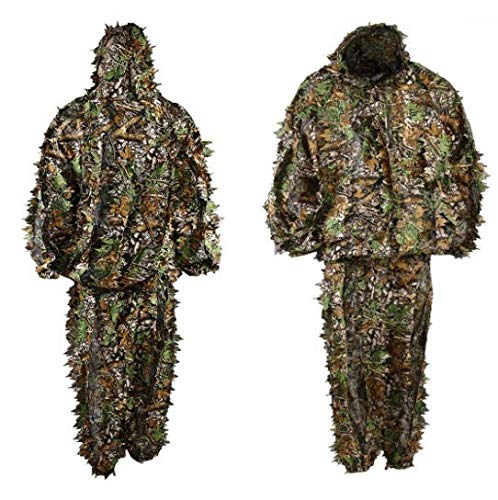 GHILLIE SUIT UK SELLER 3D CAMO LEAF WOODLAND SHOOTING/PHOTOGRAPHY CAMOUFLAGE
