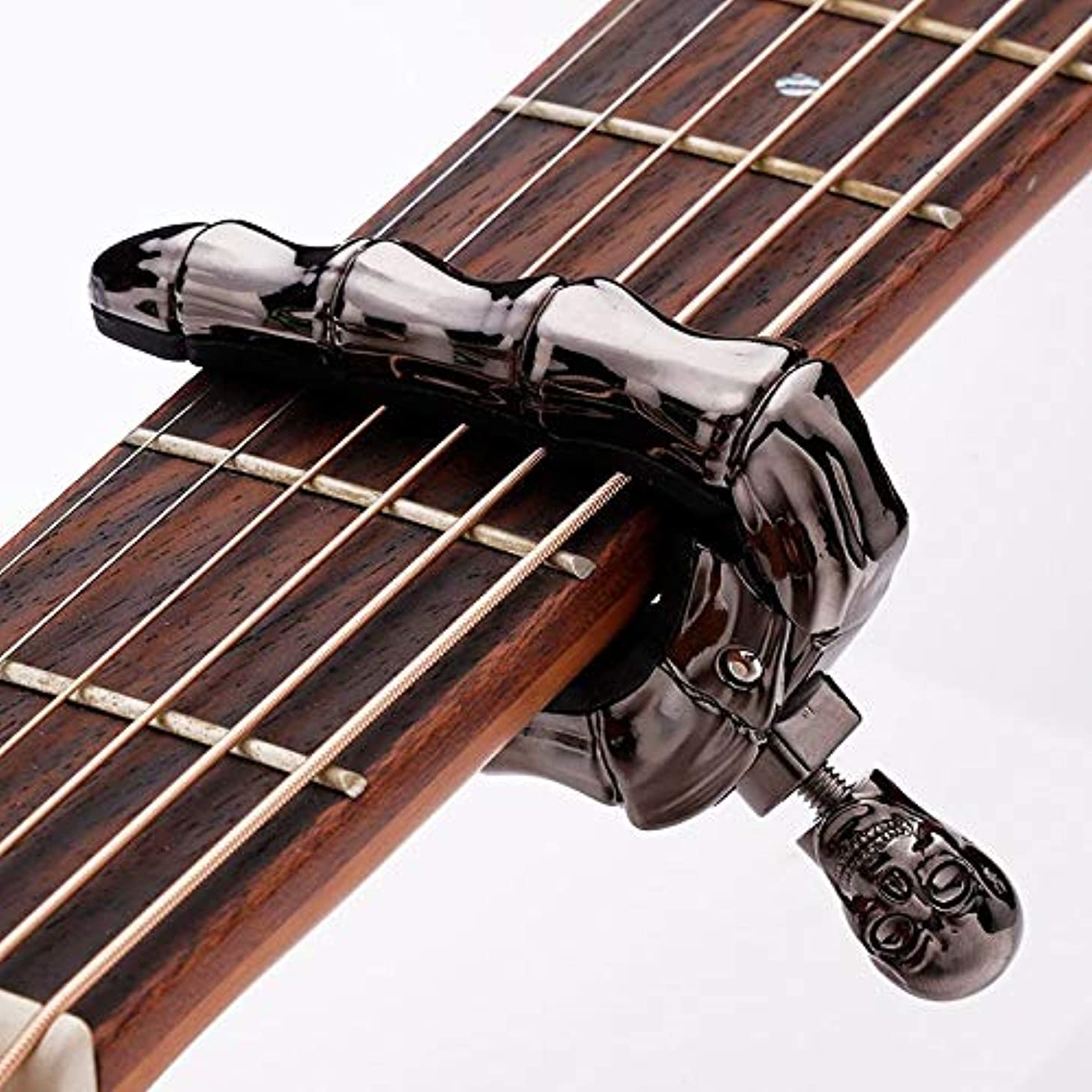 guitar capo Ghost Skull Finger Personalized Guitar Capo For Classic Acoustic Electric Guitar Metal Guitar Tuner Capo GuitarParts Accessories