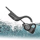AQUYY Auriculares Blueooth de Conducción ósea con 8G Memoria, IPX8 Impermeable Cascos Inalambricos para Natación, Reproductor de Música MP3, Oreja Abierta Auriculares Deportivos Bluetooth para Correr