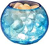 Lámpara De Sal del Himalaya con Textura Grieta De Hielo, Estilo De Luz Noche De Roca De Cristal del Himalaya Tallado A Mano Purificador (B)
