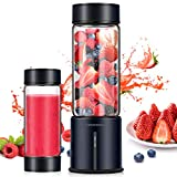 REDMOND Portable Blender, Personal Blender 5000mAh USB Rechargeable 16oz Glass Travel Juicer Cup Stainless Steel Mini Blender to make Shake and Smoothie, Outdoor and Home Use, BL014