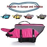 SILD Color Pet Life Jacket Size Adjustable Dog Lifesaver Safety Reflective Vest Pet Life Preserver Dog Saver Life Vest Coat for Swimming Surfing Boating Hunting(M)