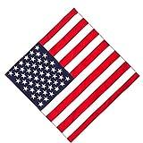 Trimming Shop - Pañuelo unisex de algodón, para la cabeza, ligera, transpirable y duradera para sombreros, muñeca, cuervos, equitación, exteriores, fiestas, 54 cm, Bandera de Estados Unidos., 54 cm
