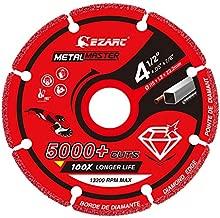 EZARC Diamond Cutting Wheel 4-1/2 x 7/8 Inch for Metal, Cut Off Wheel with 5000+ Cuts on Rebar, Steel, Iron and INOX