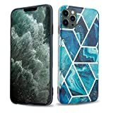 Cadorabo Custodia per Apple iPhone 12 PRO Max (6,7' Zoll) in Marmo Blue Wave No.13 - Morbida Cover Protettiva Sottile di Silicone TPU con Motivo Mosaico - Ultra Slim Case Antiurto Gel Back