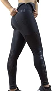 Sport and Fitness Neoprene-Free Sauna Leggings with Built-in Thermal Girdle for Women (Black)