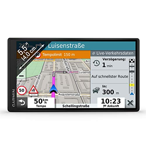 Garmin DriveSmart 55 MT-S EU Navi -  rahmenloses Display, 3D-Navigationskarten und Garmin Live-Traffic