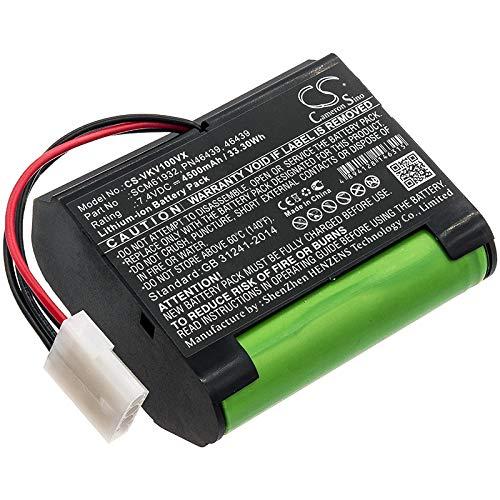 TECHTEK batería sustituye 46439, PN46439, SCM61932 Compatible con [VORWERK] Kobold VR100, Kobold VX100