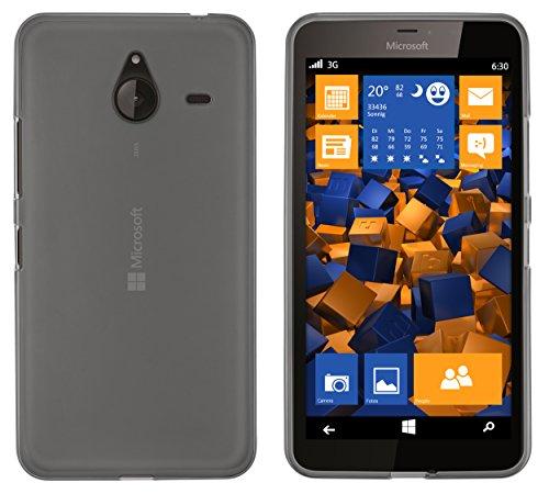 mumbi Hülle kompatibel mit Microsoft Lumia 640 XL Handy Case Handyhülle, transparent schwarz