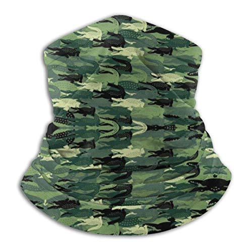 NA Neck Gaiter Green Alligator Camo Ski Neck Cover Warmers