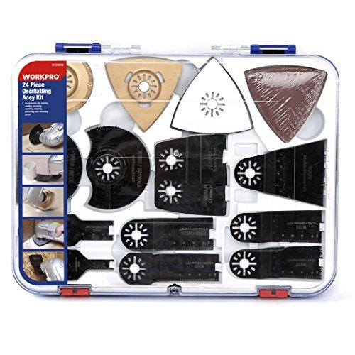 WORKPRO Mix Oszillierende Klinge Sägeblätter Multi-Tool Klingen 24-teilig für Holz, Kunststoff und Metall