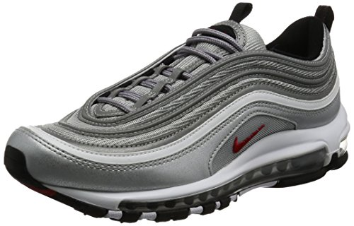 Nike Air MAX 97 OG QS Silver Bullet La Silver - Metallic Silver/Varsity Red Trainer Size 7 UK