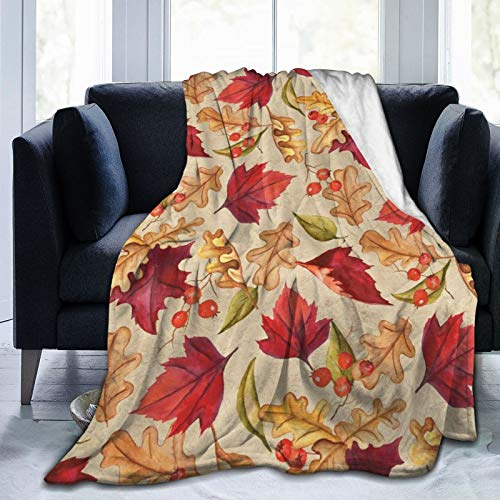 Thanksgiving Fabric Thankful Harvest - Manta de franela suave para mantener el calor
