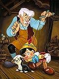 Puzzle De 300/500/1000 Piezas,Pinocho Puzzle Educativo Customed Obra De Arte De Juego De Fantasy Rompecabezas De Piso De Impresión De Alta Definición para Regalos De Niños Y Adultos M