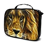 Travel Make Up Bags Lion Head 1 Large Makeup Bag Cosmetic Orgainer Train Case 9.8x3.15x7.5Inch