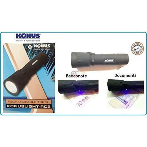 Konus KONUSLIGHT-RC2 - Linterna recargable profesional de 3